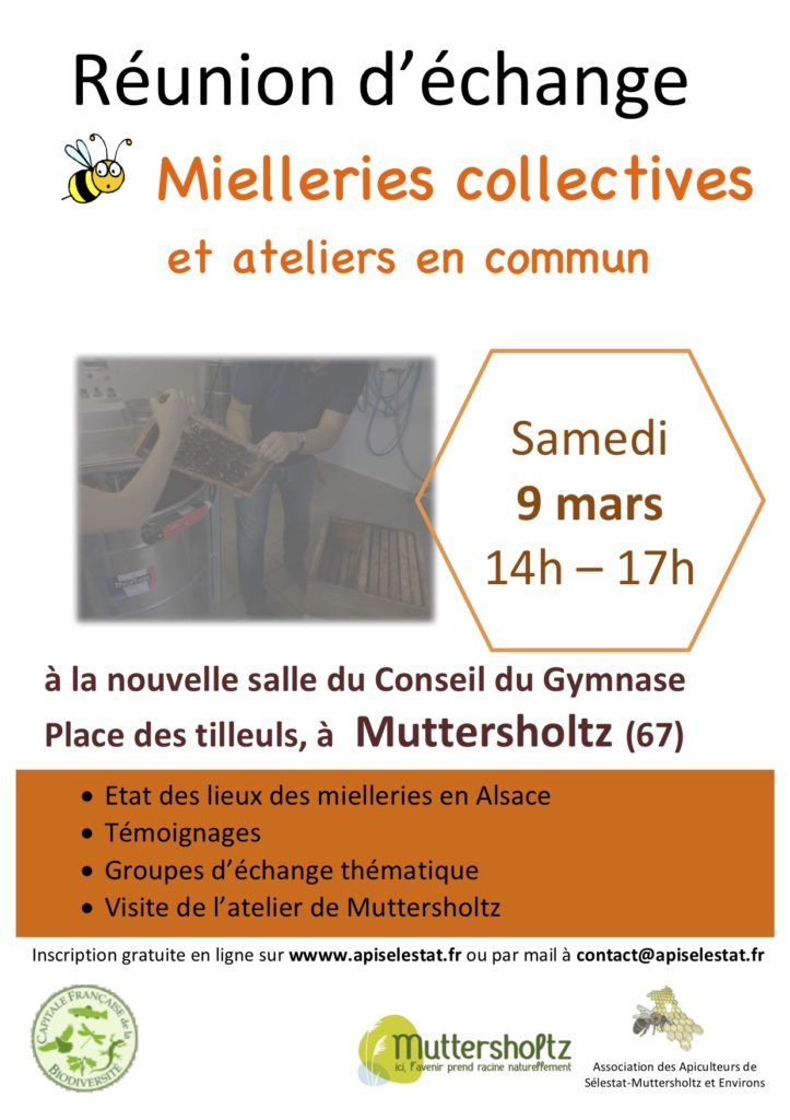 09.03.19 Invitation réunion d'échange miellerie collective et ateliers en commun